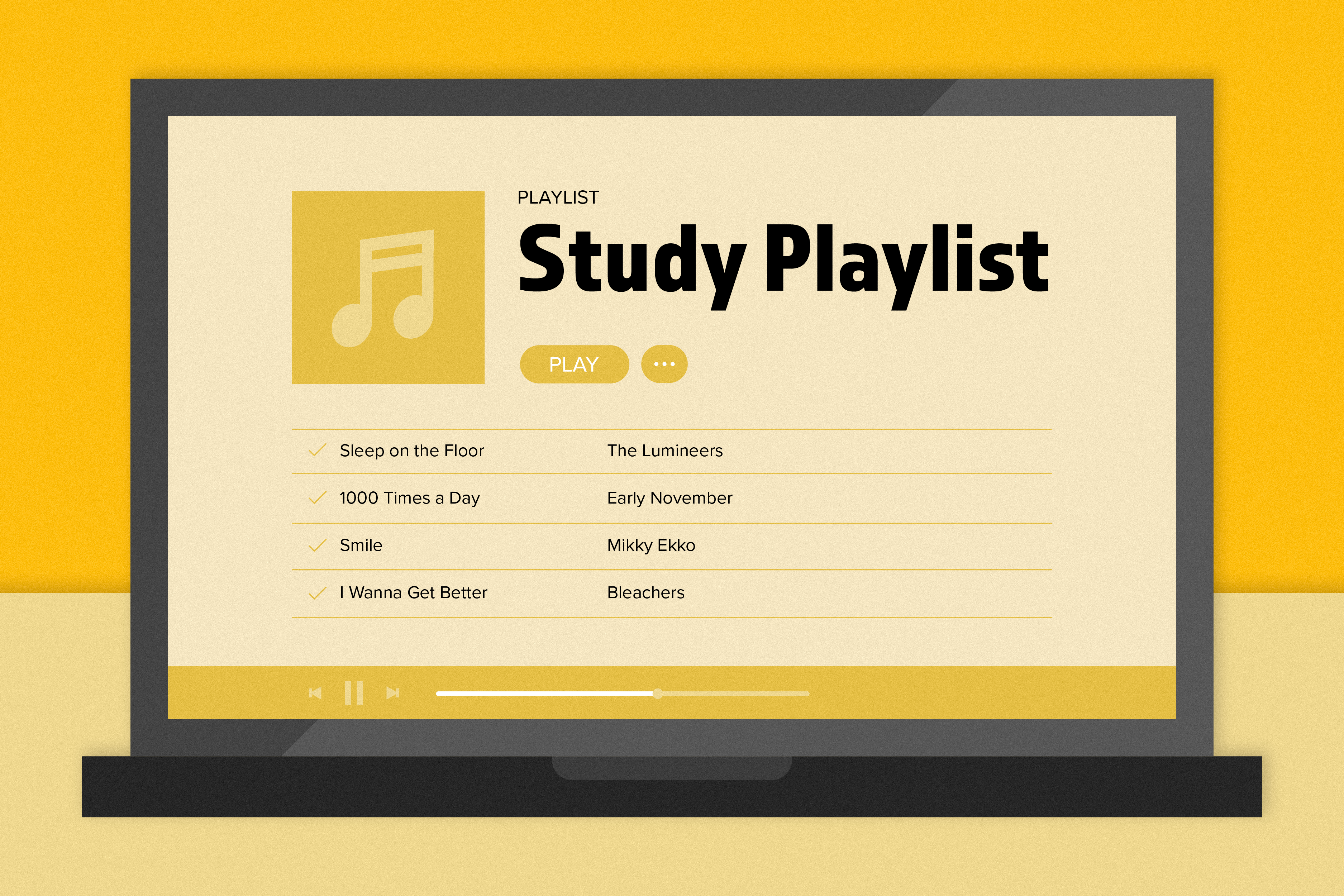 Playlist to accompany dreaded midterm season