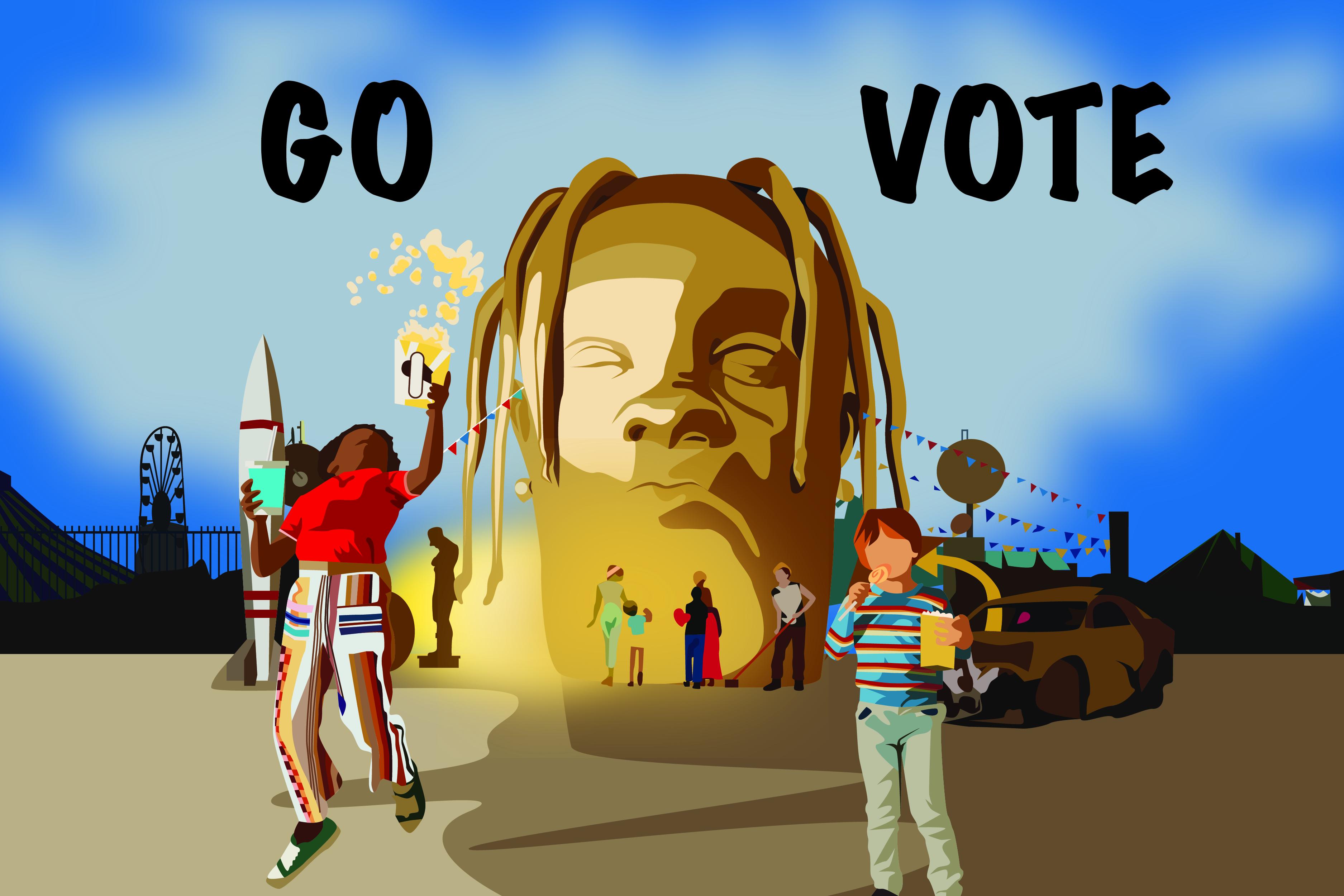 Music to invoke the voter