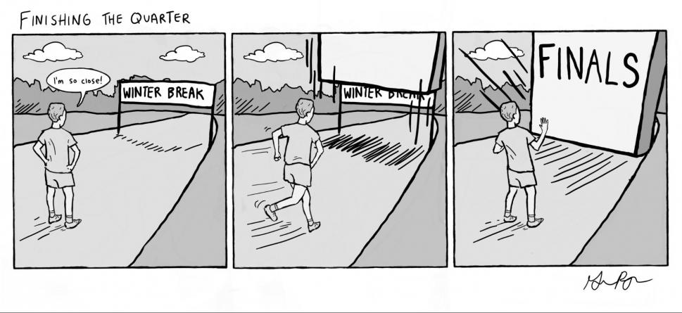 Cartoon: Finishing The Quarter