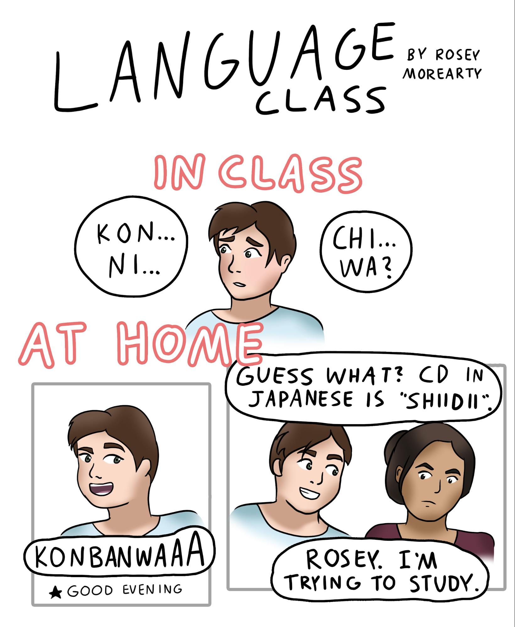 Cartoon:  Language Class