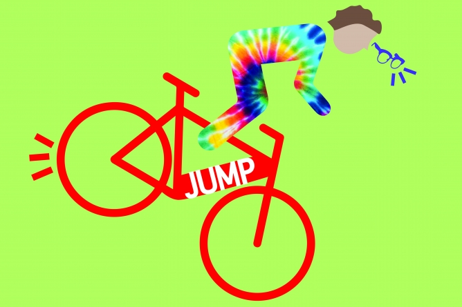 Humor: Davis Bike Blammer spotted targeting Jump Bikes in latest attacks