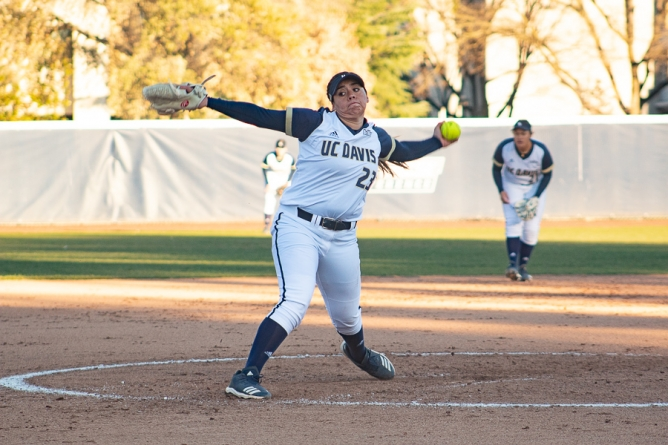 UC Davis Softball shows promise at Aggie Invitational