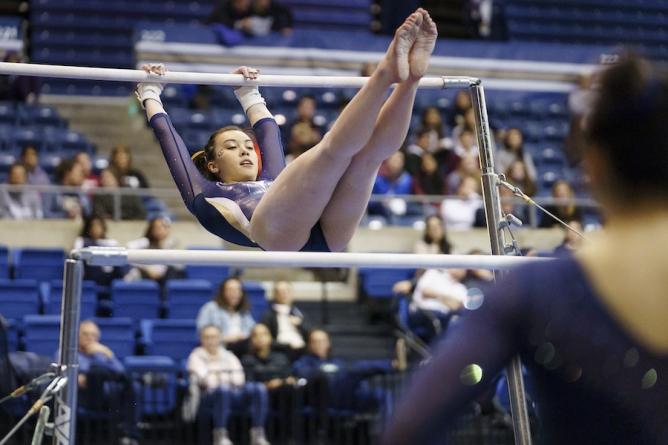 Gymnastics tops San Jose State