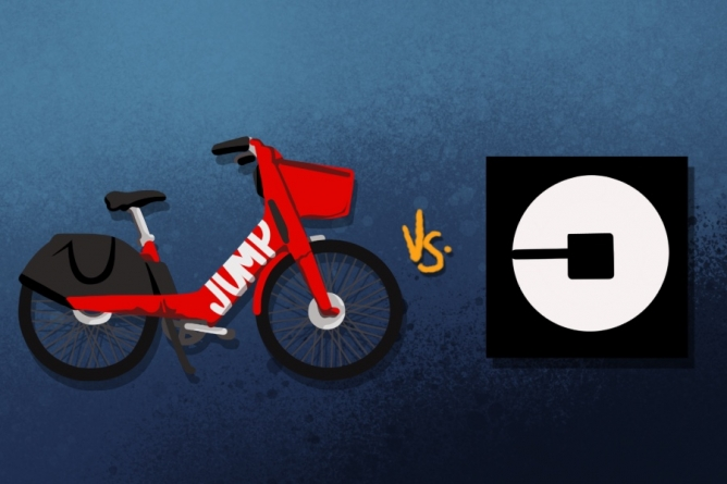 JUMP's bikeshare service became more popular than Uber in
