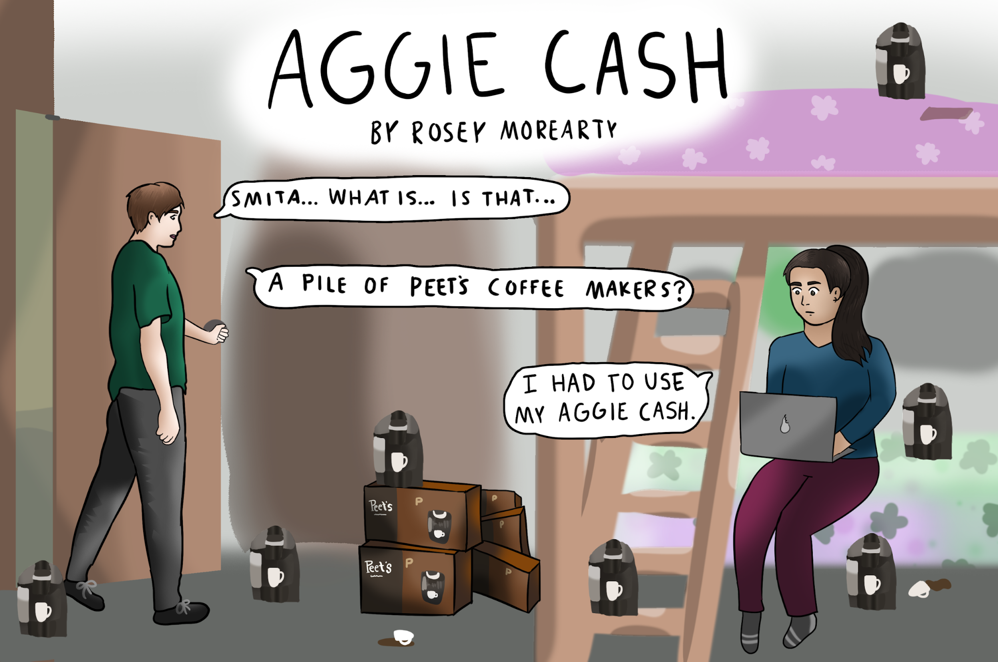 Cartoon: Aggie Cash