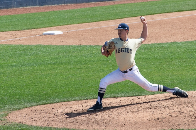 Aggies claim two of three from Highlanders in opening Big West series