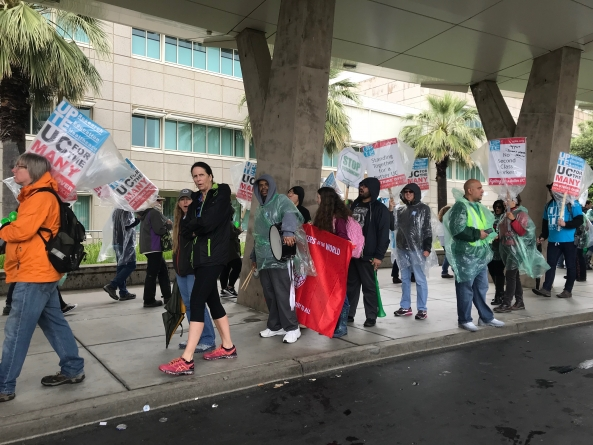 UC workers represented by AFSCME Local 3299 hold 5th strike in past year