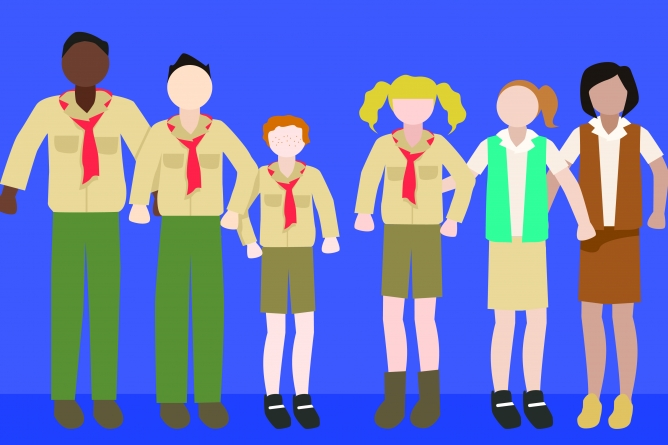 First Davis Girl Scout troop to join Boy Scouts