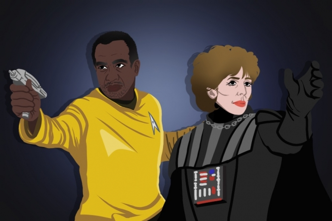 Humor: Gary May battles Katehi in the Death Star