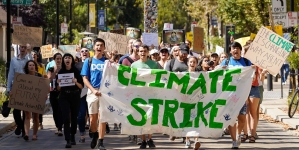 Students and Davis residents participate in Global Climate Strike to advocate climate justice