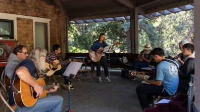 Folk Music Jam Session in the Arboretum