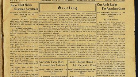 The California Aggie first undergraduate UC newspaper to digitize entire collection
