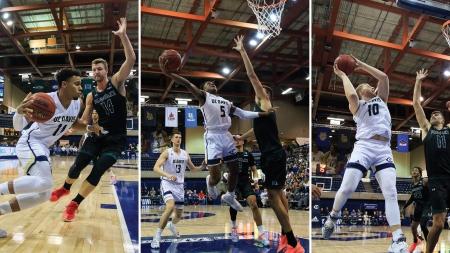 Late comeback downs men's basketball on Senior Night