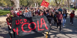 UC Santa Cruz police monitored picket lines of graduate students supporting COLA