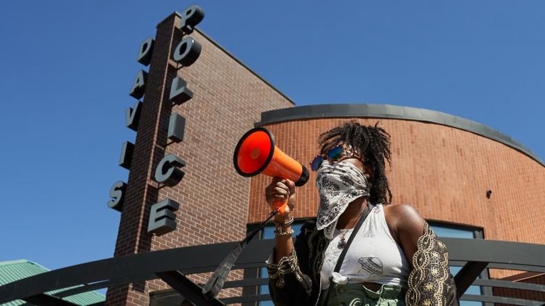 Davis Black Lives Matter protest draws crowd, despite Facebook controversy