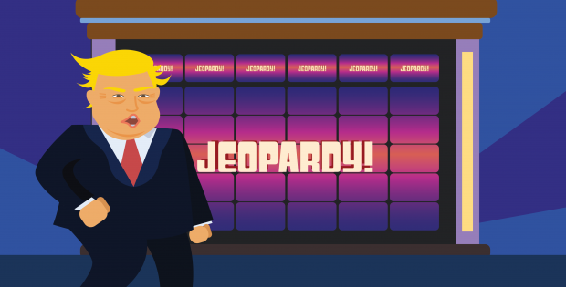 Trump threatens to take over as Jeopardy host if denied second term as president