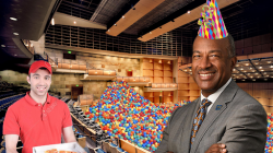 UC Davis administration turns Mondavi Center into giant ball pit and hosts pizza party for struggling students
