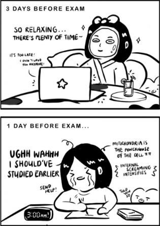 The procrastination panic. You just had to be there.