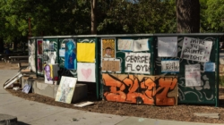 Vandals remove Black Lives Matter artwork from Central Park Solidarity Space