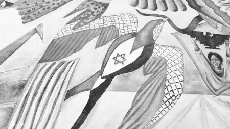 Palestinian symbol defaced in multicultural mural